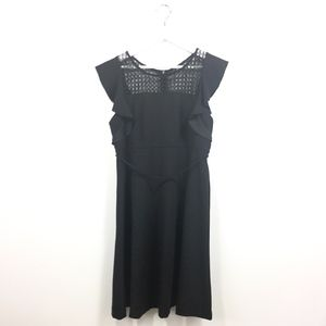 Motherhood Maternity Large Dress Black Flutter